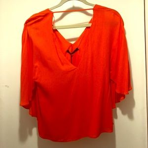 NWT Zara Orange Drape Top